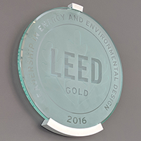 LEED plaque