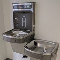 Water fountains and filling station