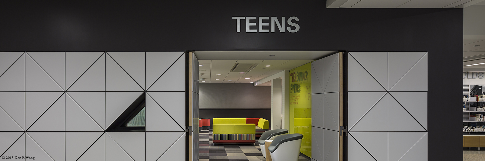Teen space entrance