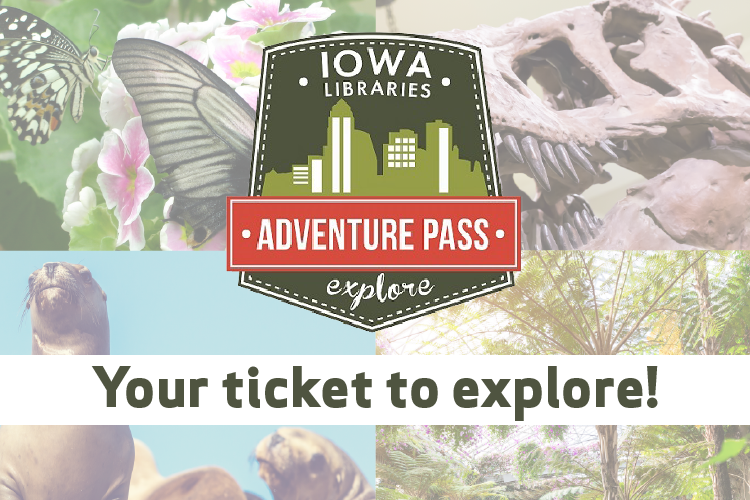 Adventure Pass Logo with photos of places to explore with the pass