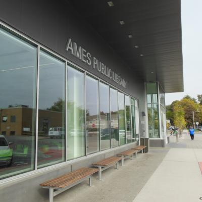 Ames Public Library Entrance