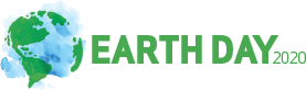 Graphic of Earth Day 2020 logo in color