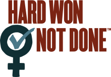 Graphic of Hard Won Not Done Logo in color
