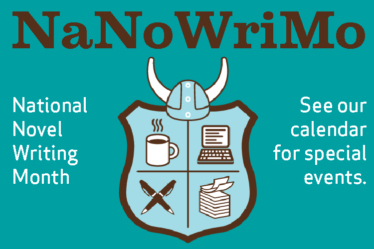National Novel Writing Month Events at the Library